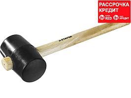 STAYER 680г Чёрная резиновая киянка с деревянной рукояткой (20505-75)