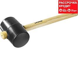 STAYER 900г Чёрная резиновая киянка с деревянной рукояткой (20505-90)