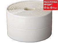 Лента бордюрная для ванн и раковин, STAYER Profi 12341-30-30, самоклеящаяся, профиль L, цвет белый, 30 х 30мм х 3,35м (12341-30-30)
