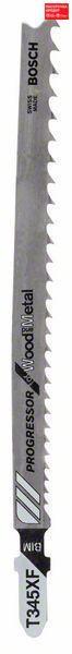 Пилочка для лобзика Bosch Progressor for Wood and Metal T 345 XF, 100 шт