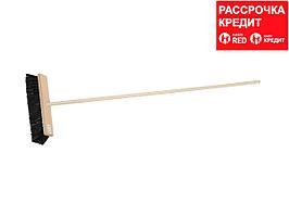 Щетка ЗУБР уличная деревянная с ручкой, волокно 90мм, ПЭТ, 140см, 40х7см (39191-40)