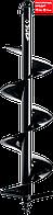 Шнек для мотобуров, грунт, d=200 мм, однозаходный, ЗУБР (7051-20)