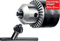 """Патрон ударный STAYER """"PROFESSIONAL"""" ключевой для дрели, 16 мм, с ключом в комплекте, посадочная резьба 1/2"""", Д 3,0-16мм (29055-16-1/2)"""