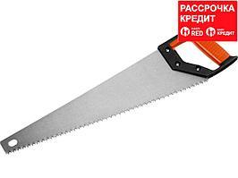 Ножовка по дереву (пила) MIRAX Universal 450 мм, 5 TPI, рез вдоль и поперек волокон, для крупных и средних заготовок (1502-47_z01)