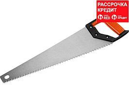 Ножовка по дереву (пила) MIRAX Universal 500 мм, 5 TPI, рез вдоль и поперек волокон, для крупных и средних заготовок (1502-50_z01)