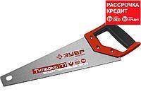 Ножовка специальная (пила) ЗУБР МОЛНИЯ-Тулбокс 350 мм, 11 TPI, прямой зуб, точный рез, импульсная закалка каждого зуба (15156-35)