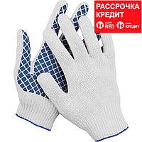 DEXX перчатки рабочие, 10 пар в упаковке, х/б 7 класс, с обливной ладонью. (114001-H10)