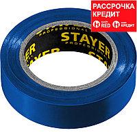 STAYER Protect-10 Изолента ПВХ, не поддерживает горение, 10м (0,13х15 мм), синяя (12291-B)