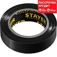 STAYER Protect-10 Изолента ПВХ, не поддерживает горение, 10м (0,13х15 мм), черная (12291-D)