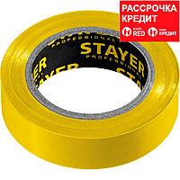 STAYER Protect-10 Изолента ПВХ, не поддерживает горение, 10м (0,13х15 мм), желтая (12291-Y)
