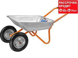 СИБИН СТ-21 тачка садовая двухколесная, 100 кг (39909)