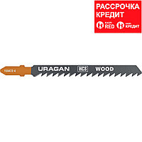 Полотна URAGAN, T101D, HCS, по дереву, ДСП, ДВП, T-хвост., шаг 4мм, 100/75мм, 2шт (159472-4_z02)