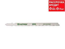 Полотна KRAFTOOL, T318B, для эл/лобзика, HSS, по металлу (2,5-6мм), EU-хвост., шаг 2мм, 110мм, 2шт (159552-2)