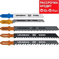 Набор полотен URAGAN, T101B, T101AO, T111C, T144D, T118A, по дереву и металлу, 5 предметов (159488-H5_z02)