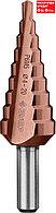 ЗУБР КОБАЛЬТ 4-20мм, 9 ступеней, сверло ступенчатое, кобальтовое покрытие (29672-4-20-9_z01)
