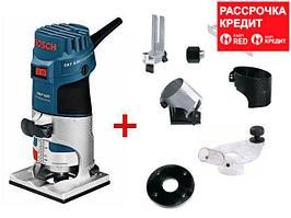 Фрезер кромочный Bosch GKF 600 + принадлежности
