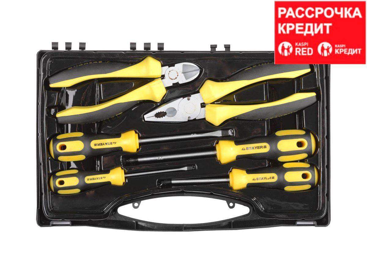 STAYER HERCULES набор губцевого инструмента с отвертками (2202-H6)
