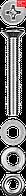 Винт (DIN965) в комплекте с гайкой (DIN934), шайбой (DIN125), шайбой пруж. (DIN127), M4 x 20 мм, 25 шт, ЗУБР (303456-04-020)