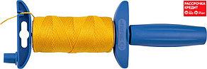 Шнур ЗУБР нейлоновый, для строительных работ, сменная шпуля, на катушке, 50м (06410-50)
