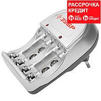 Зарядное устройство ЗУБР для никель-металлгидридных аккумуляторов, в блистере, время зарядки 6 часов, 4хААА/АА (59233-4)