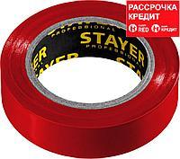 STAYER Protect-10 Изолента ПВХ, не поддерживает горение, 10м (0,13х15 мм), красная (12291-R)