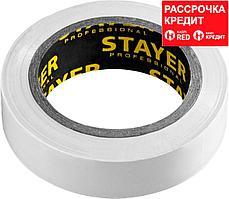 STAYER Protect-10 Изолента ПВХ, не поддерживает горение, 10м (0,13х15 мм), белая (12291-W)