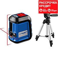 ЗУБР КРЕСТ-15, нивелир лазерный , суперкомпакт, 15м, , точн. +/-0,3 мм/м, штатив, чехол (34902-3_z01)