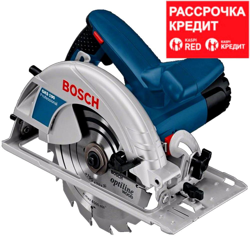 BOSCH 1400 Вт, 5500 об/мин, 190 мм, пила дисковая GKS 190 (0 601 623 000)