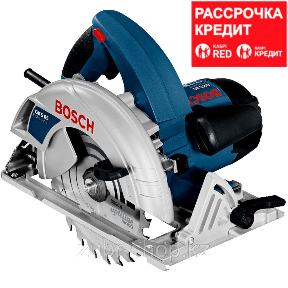 BOSCH 1600 Вт, 5900 об/мин, 190 мм, пила дисковая GKS 65 (0 601 667 000)