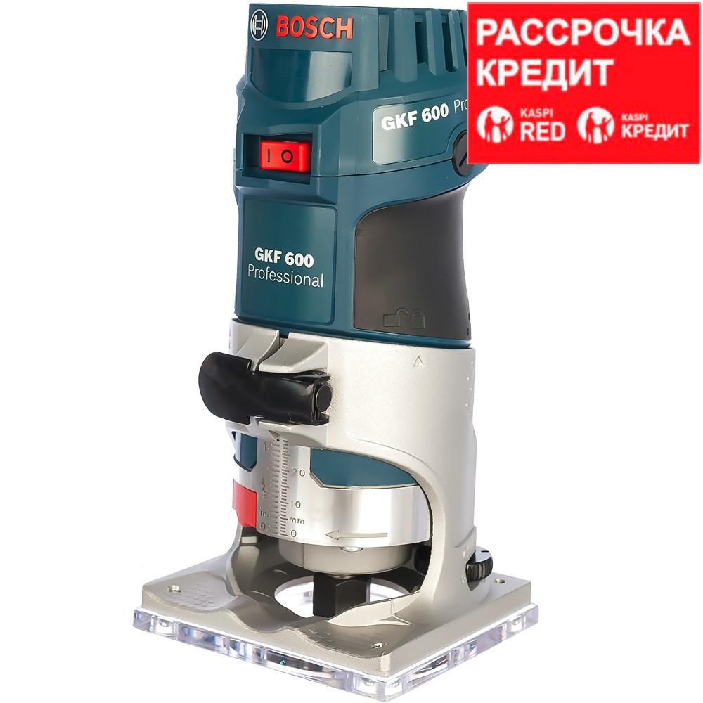 BOSCH 600 Вт, 33000 об/мин, кромочный фрезер GKF 600 L-BOXX (0 601 60A 102), кейс - фото 1