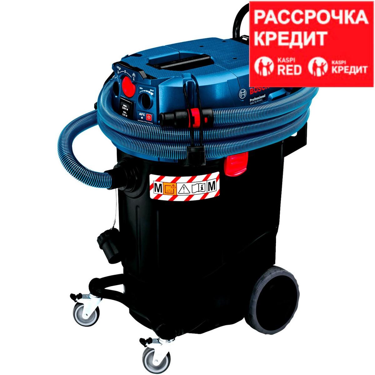 BOSCH 1200 Bт, пылесос строительный GAS 55 M AFC (0 601 9C3 300)