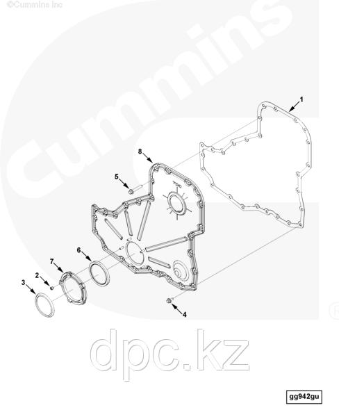 Прокладка передней крышки Cummins ISL QSL 3815617
