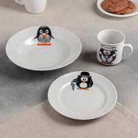 Набор посуды «Пингвинчики», 3 предмета