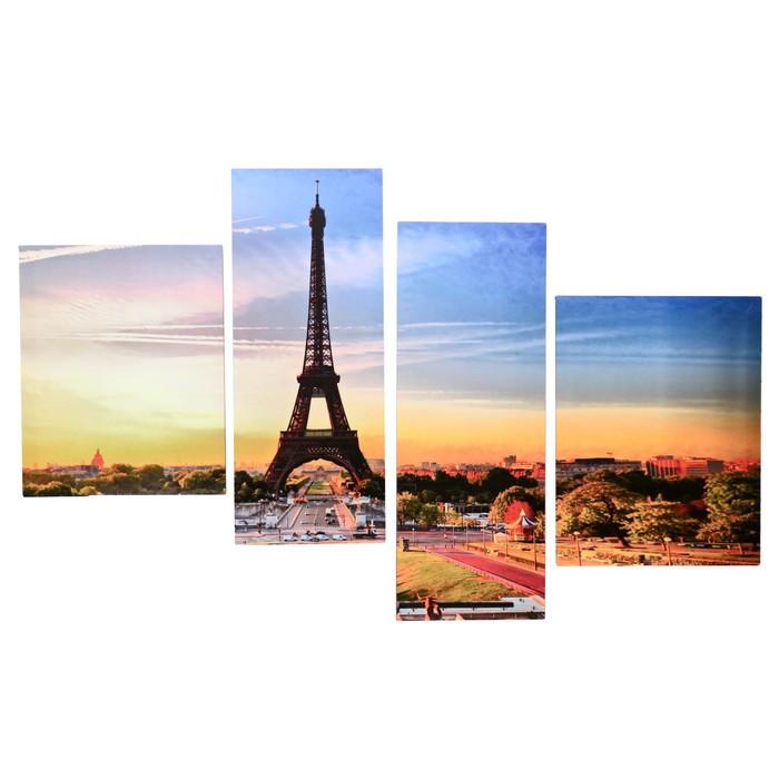 """Модульная картина на подрамнике """"Утро в Париже"""", 40×50, 42×55, 30×80, 30×75, 145×80 см"""