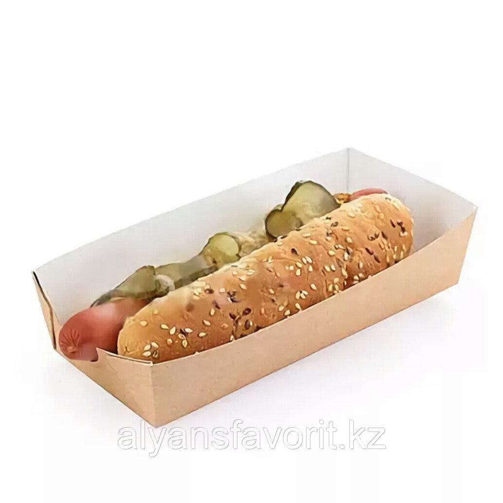 Упаковка  для хот-догов, картофеля фри ECO HD, размер:165*70*40 мм. РФ