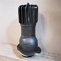 Вентиляционный выход с вращающей турбиной для профиля СуперМонтерей  PNOBN 150 Тёмно-Коричневый RAL 8019