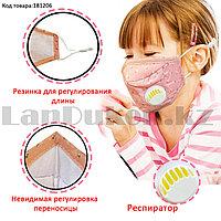 Многоразовая защитная маска-респиратор детская от пыли с регулировкой длины Xiaokeai в ассортименте