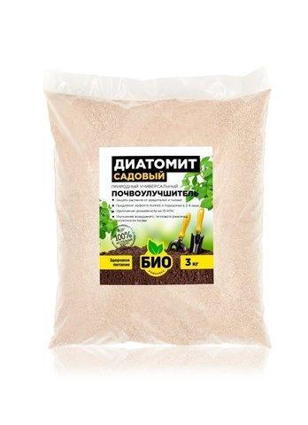 Почвоулучшитель и природный инсектицид диатомит садовый 3 кг