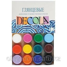 Набор акриловых красок Decola, глянцевый 12 цв. х 20 мл