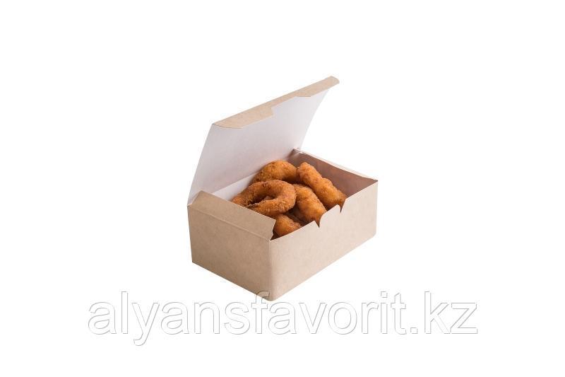 EcoFast food box, S- контейнер бумажный,размер: 115*75*45 мм.РФ