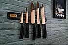 Набор ножей с магнитным держателем Berlinger Haus Metallic Line Rose Gold Edition 6 пр., фото 3