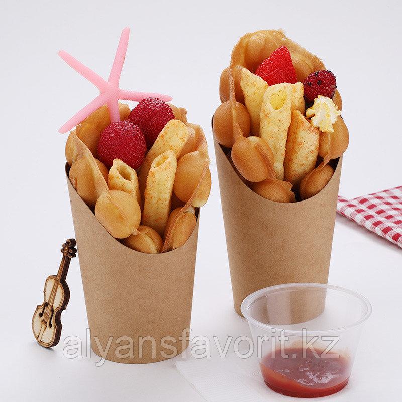 ЕcoSnack Cup L - упаковка для картофеля фри,снеков и поп корна. 720 мл. РФ