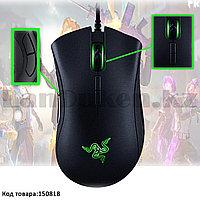 Проводная игровая мышь оптическая световая LED USB 7 кнопок 16 000 dpi Razer Deathadder Essential 5G черная