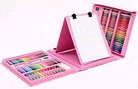 Набор для творчества детский (чемодан) 208 предметов (розовый)