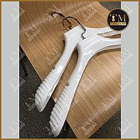 Плечики белые глянцевые, каучук (мужской)