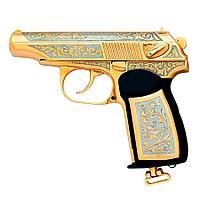 Подарочный пистолет ПМ «Макарова MP-654K», украшенный
