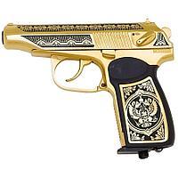 Подарочный пистолет ПМ «Макаров MP-654K», украшенный, с гербом РФ