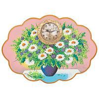 Часы с картиной «Полевые цветы» 48х66 см