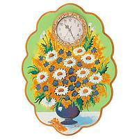 Часы с картиной «Полевые цветы» 48х66 см (вариант 2)