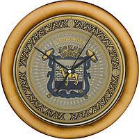 Гравюра на стали - Часы «Герб Челябинска»